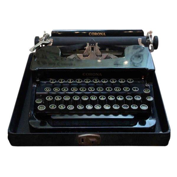 Antique Smith Corona Typewriter With Case - Image 1 of 6