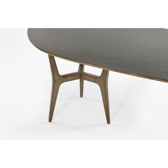 Mid-Century Modern Asymmetrical Walnut Desk For Sale - Image 9 of 13