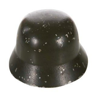 WW II Miniature German Helmet M1943 With Double Decal For Sale