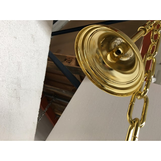 Murano Chandelier Murano Glass Poliedro Transparent and Gold and Amber For Sale - Image 4 of 13