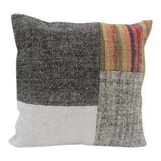 Handmade Patchwork Turkish Kilim Pillow Cover For Sale