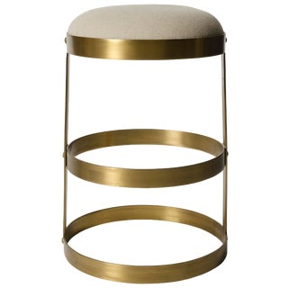 Dior Counter Stool, Antique Brass For Sale