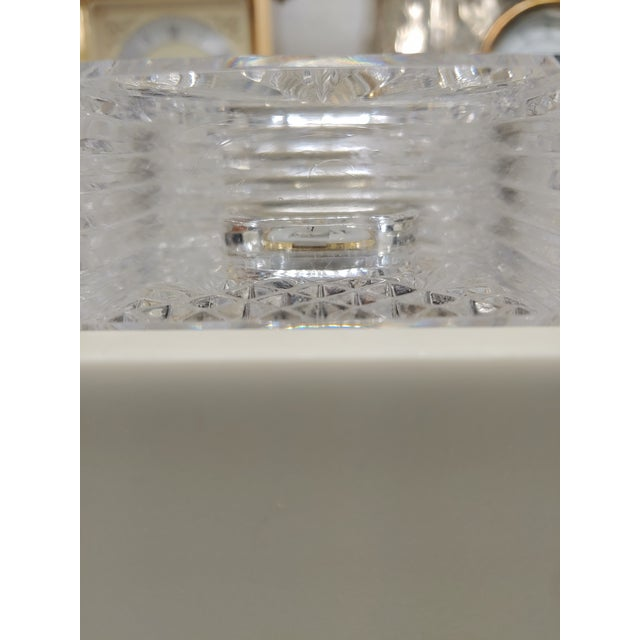 Art Deco 1990s Waterford Crystal Clock For Sale - Image 3 of 5