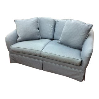 Hickory Chair Blue Loveseat For Sale