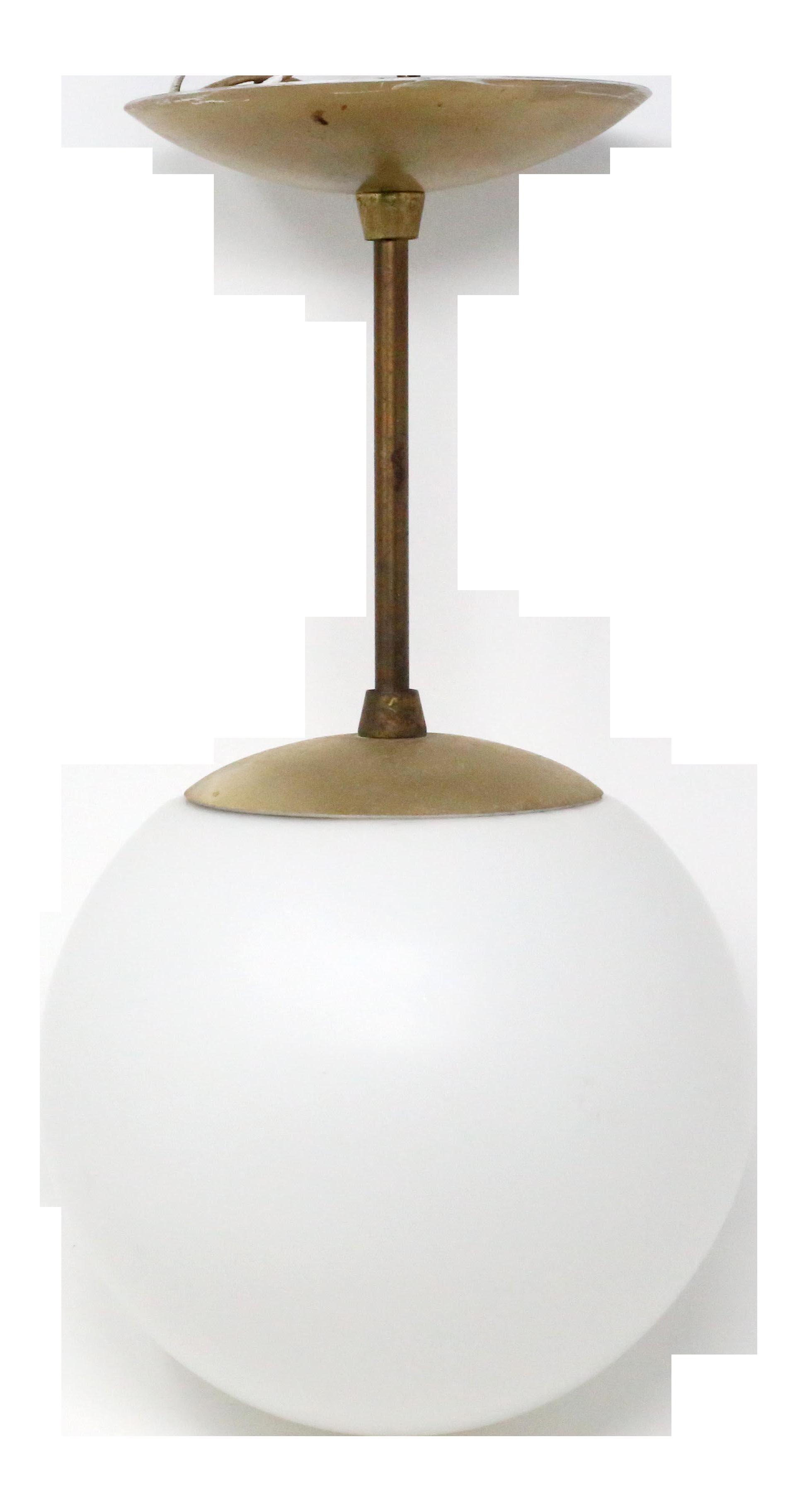 1950 S Mid Century Modern Globe Pendant Light By E J S Lighting Chairish