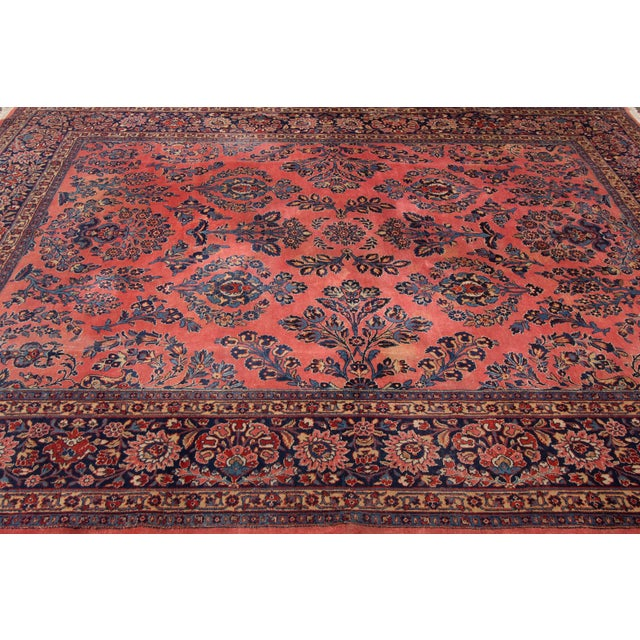 """Vintage Hand-Knotted Sarouk Rug - 8'1"""" X 10'4"""" - Image 4 of 4"""