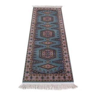 1980s Atlas Halilari Wilton Turkish Rug - 2′8″ × 7′3″ For Sale