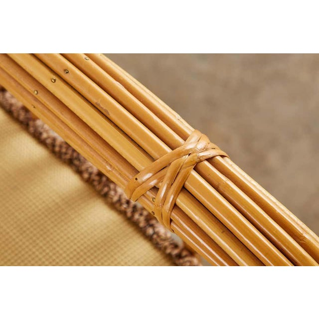 Wicker Set of Eight Michael Taylor Organic Modern Bamboo Lounge Chairs For Sale - Image 7 of 13