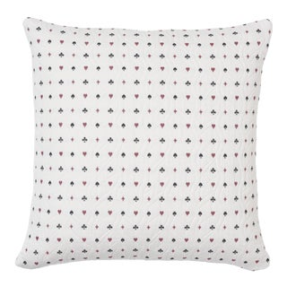 Schumacher Le Joueur Pillow in Rouge Et Noir For Sale
