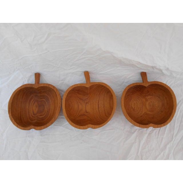 Mid-Century Teak Nut Bowls - Set of 3 For Sale - Image 4 of 7