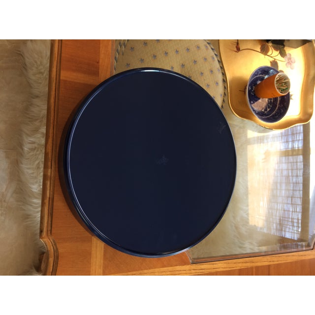2010s Zebra Scalamandre Inspired Navy and Green Tray For Sale - Image 5 of 11