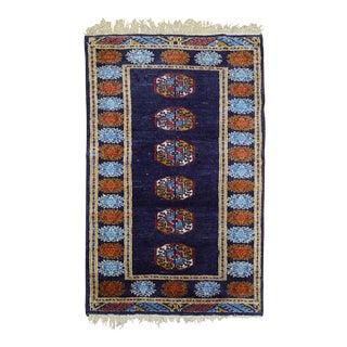 Vintage Afghan Throw Rug, 2' X 3' For Sale