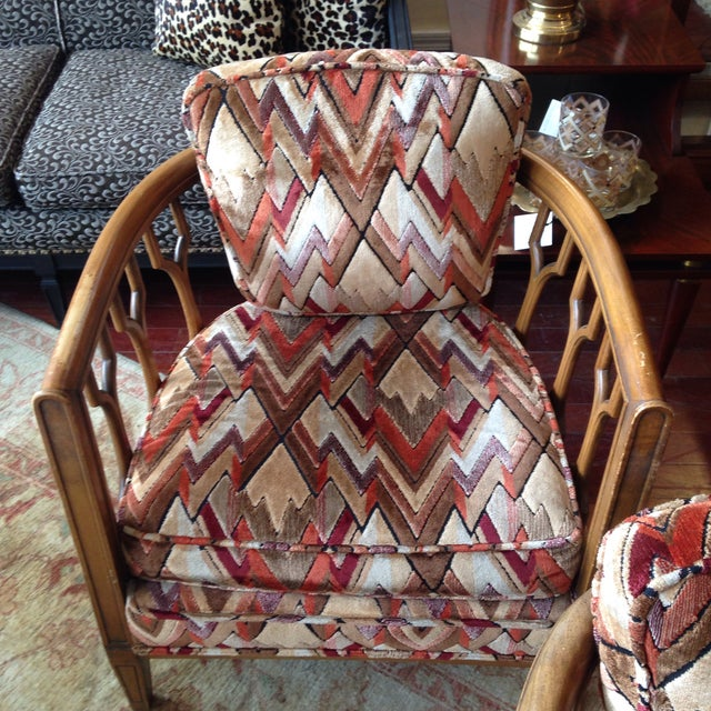 Vintage Barrel Back Club Chairs - A Pair - Image 4 of 11