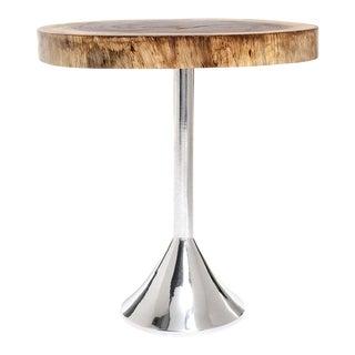 Bolacha Side Table - Aluminum Base For Sale