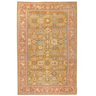 Antique Oversize 19th Century Persian Sultanabad Carpet