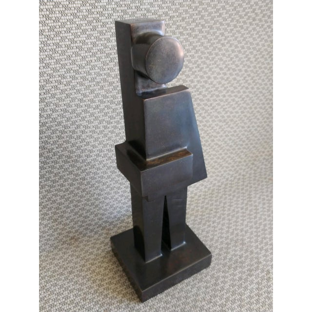 Figurative Modern Cubist Bronze Sculpture by Tony Padilla, 2018 For Sale - Image 3 of 13