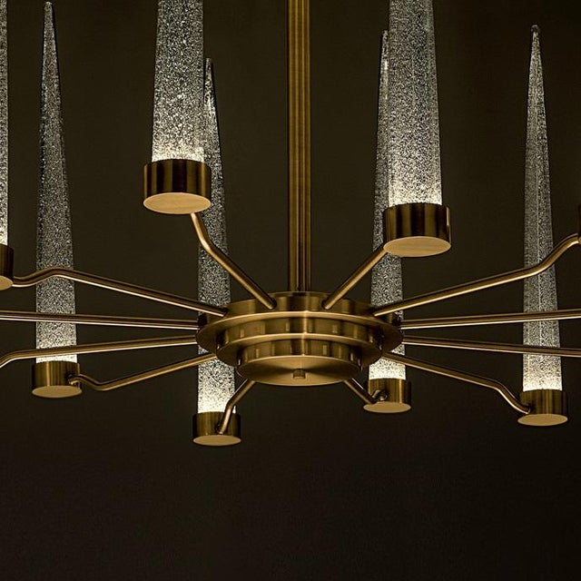 English Brass Icicle Ceiling Light For Sale - Image 4 of 6