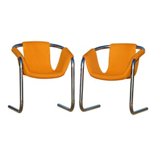 Duncan Burke and Gunter Eberle for Vecta Group Zermatt Lounge Chairs- a Pair For Sale
