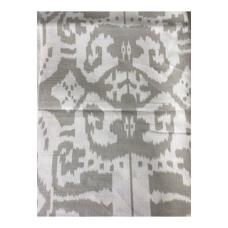 Quadrille China Seas Island Ikat Fabric Remnant For Sale