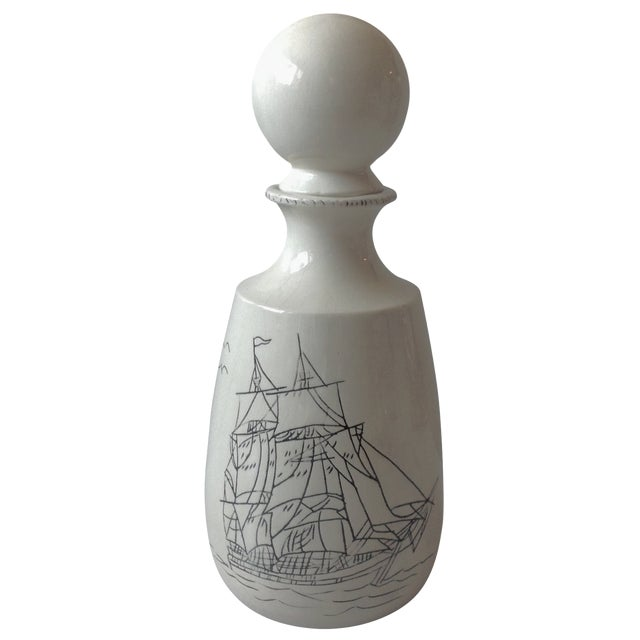 Hand-Crafted Nautical Pottery Decanter - Image 1 of 9