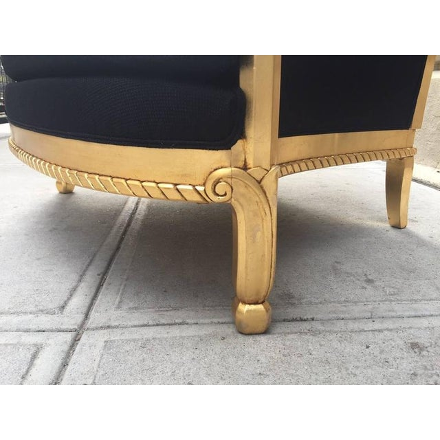 Gold Italian Giltwood Sculptural Lounge Chair For Sale - Image 8 of 9