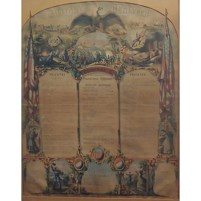 Americana Civil War 1864 Military Register Pennsylvania Company E Manifesto For Sale - Image 3 of 9