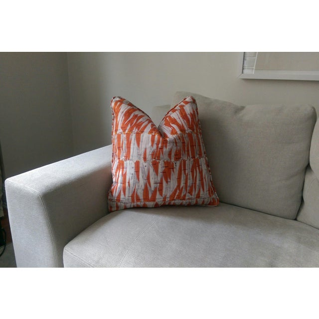 Christopher Farr Willow fabric pillow with self welt - this color combo was custom made so that it was primarily all...