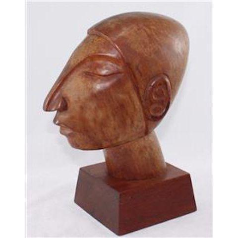 Vintage Mexican Modernist Wood Sculpture by Jose Pinal - Image 4 of 5
