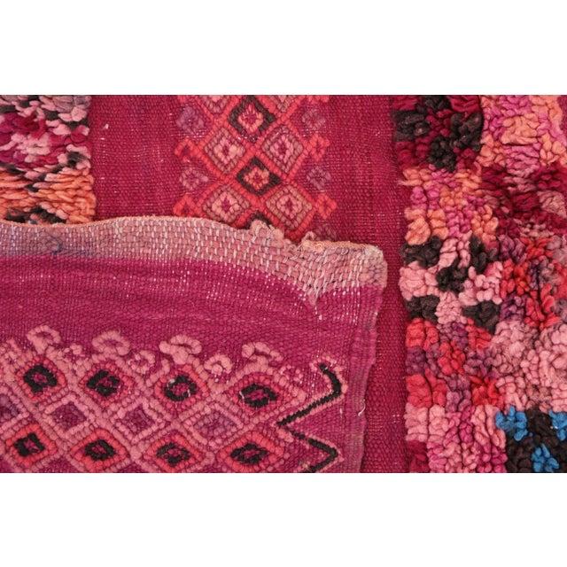 "Beni M'Guild Vintage Moroccan Rug - 4'11"" x 5'8"" For Sale - Image 4 of 4"
