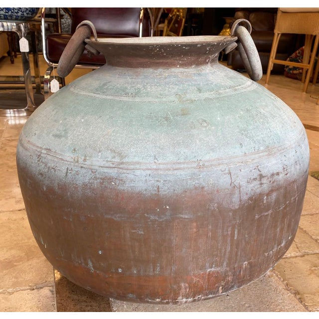 Indian Antique Indian Copper Water Pot For Sale - Image 3 of 13