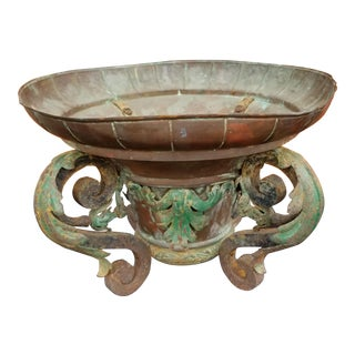 Country French Copper & Iron 19th Century Planter
