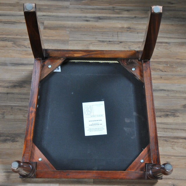 Wood Empire Upholstered Side Chair For Sale - Image 7 of 8