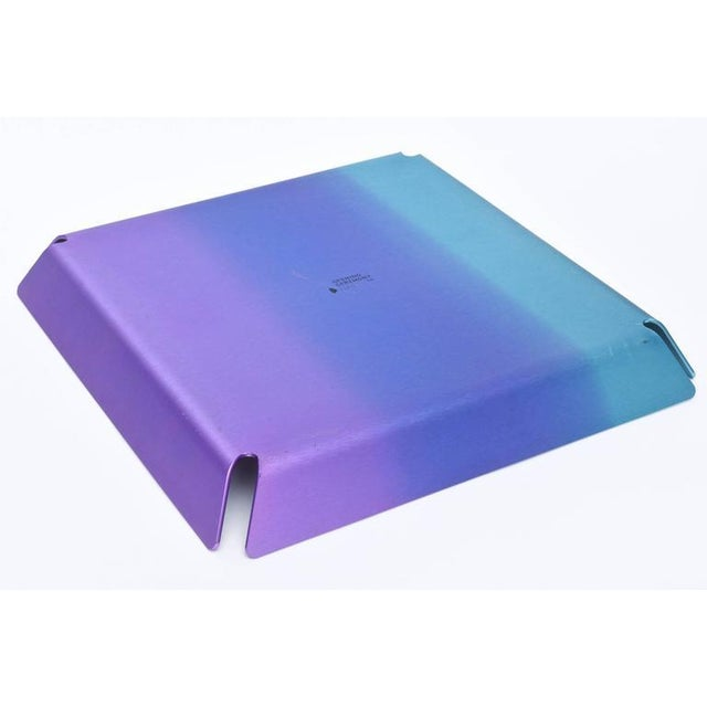 Limited Edition Art Basel Anodized Aluminum Serving/Bar Tray For Sale In Miami - Image 6 of 9