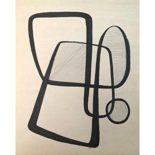 "Original Pen & Ink Drawing ""Interlock"" For Sale"