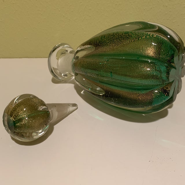 Murano Italian Mid Century Murano Bottle/Decanter With Stopper For Sale - Image 4 of 10