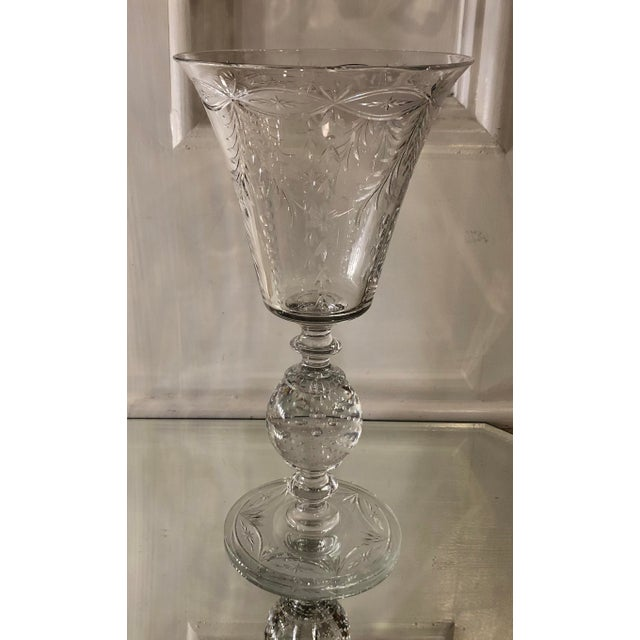 1930s Antique Art Deco Pairpoint Crystal Chalice For Sale - Image 5 of 5