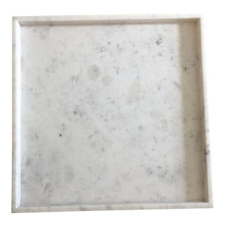 Global Views White Marble Tray
