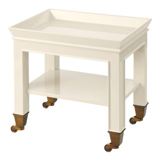 Miles Redd Collection Telephone Table in Ivory For Sale