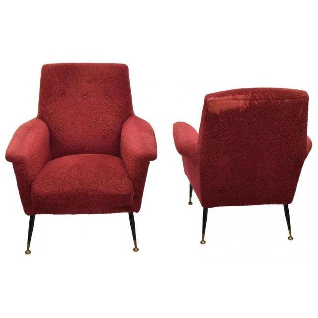 Italian Mid-Century Modern Armchairs - a Pair - Image 2 of 4