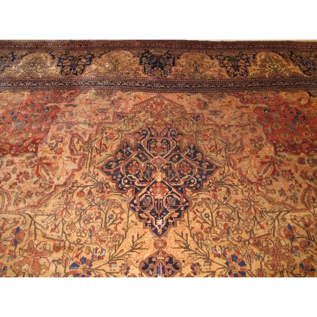 Exquisite Antique Oversize Mohtashem Kashan Carpet For Sale - Image 9 of 9