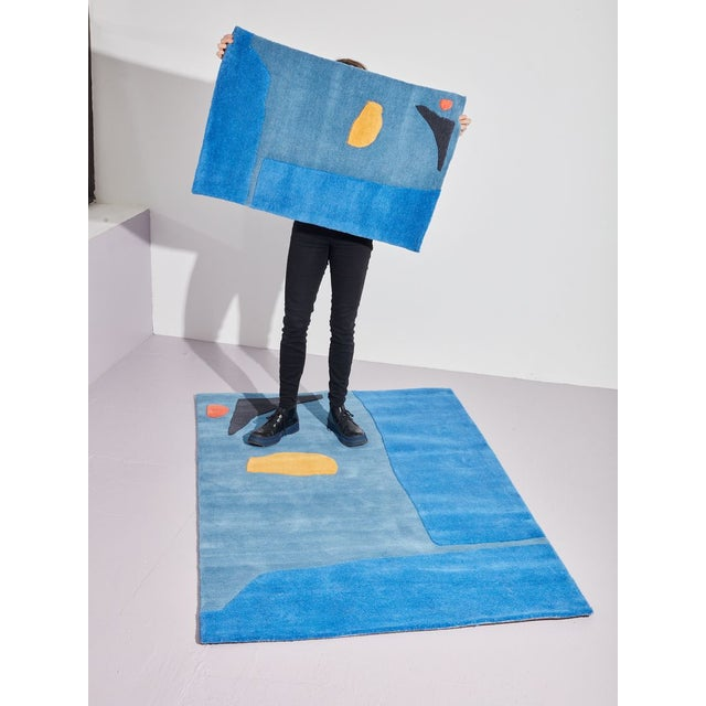 Abstract Cold Picnic Little Stranger Rug For Sale - Image 3 of 4