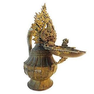 Antique Nepalese Bronze Ritual Vessel For Sale
