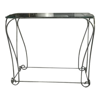 Custom Iron and Glass Console Table