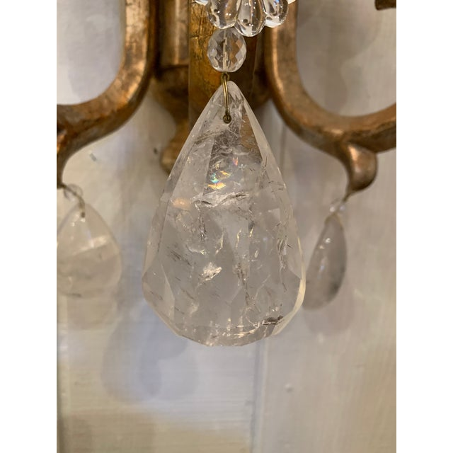 Designer Giltwood Candle Sconces -A Pair For Sale In Philadelphia - Image 6 of 13