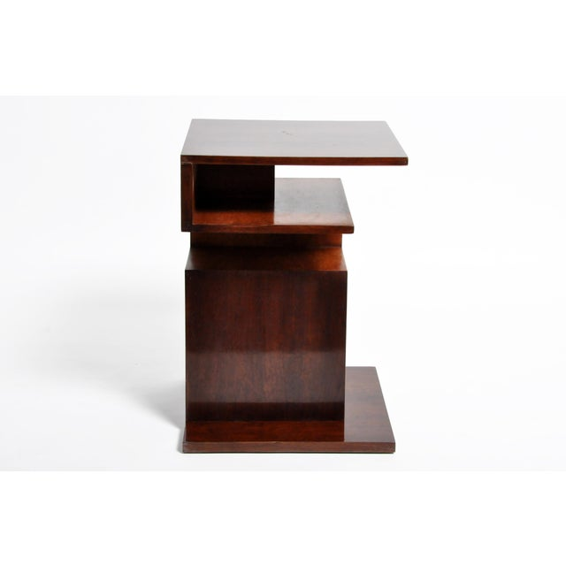 Hungarian Walnut and Maple Veneer Side Table With Shelves For Sale - Image 9 of 13