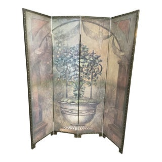Maitland Smith Neoclassical Coromandel Room Divider Screen For Sale