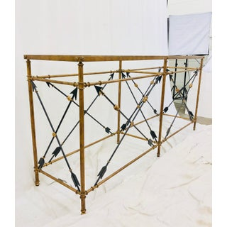 Gold Metal Console Table Preview