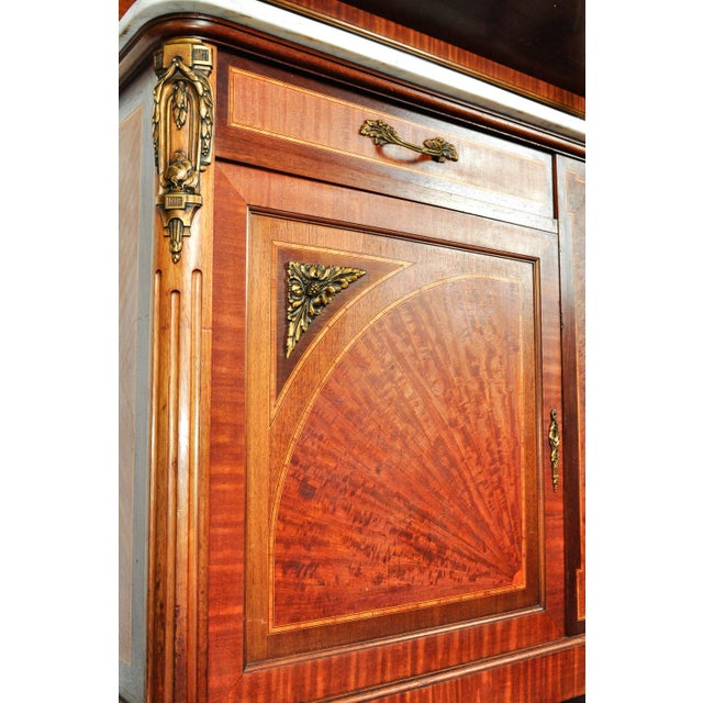Antique Sandwood Mahogany Hutch or Cabinet For Sale - Image 11 of 13