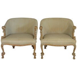 Image of Italian Club Chairs