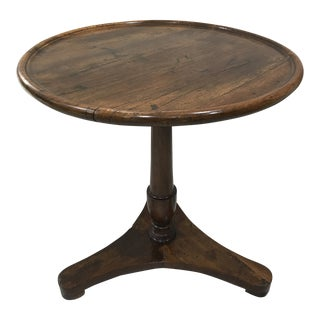18th Century French Provincial Walnut Pedestal Table With Dished Top For Sale